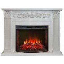 Электрический камин Real-Flame Milton 25,5 WT с очагом Evrika 25,5