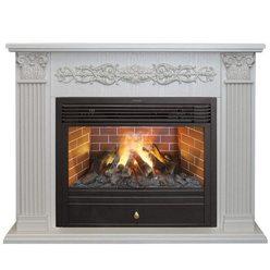 Электрический камин Real-Flame Milton 26 WT с очагом 3D Novara