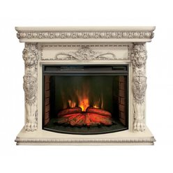 Широкий электрокамин Real-Flame Romano 33 WT с очагом Firespace 33 S IR