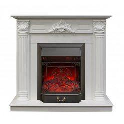 Электрический камин Real-Flame Stefania STD/EUG WT с очагом Majestic Lux S BL