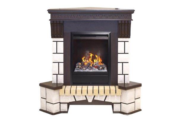 Электрокамин Real-Flame Stone Corner New STD/EUG AO (DN) с очагом 3D Olympic