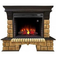 Электрокамин Real-Flame Stone Brick 26 AO с очагом Epsilon 26 S IR