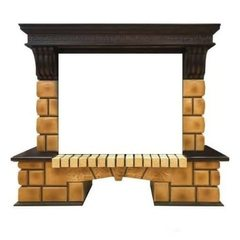Портал Real-Flame Stone Brick 26 AO