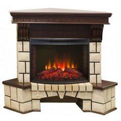 Электрокамин Real-Flame Stone Corner New 25,5 AO с очагом Evrika 25,5 LED