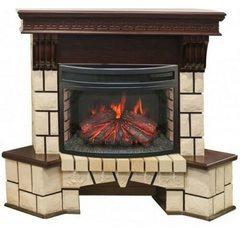 Электрокамин Real-Flame Stone Corner New 25,5 AO с очагом Sparta 25,5 LED