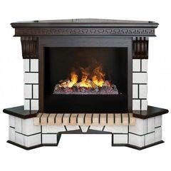 Электрический камин Real-Flame Stone Corner New 26 AO с очагом 3D Cassette 630+Black вставка