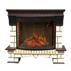 Большой электрокамин Real-Flame Stone New 33 с очагом Firespace 33 S IR