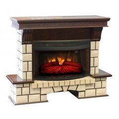 Электрокамин Real-Flame Stone New 33W с очагом Firespace 33W S IR