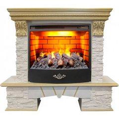 Электрокамин Real-Flame Rockland Lux 25/25,5  WT с очагом 3D Firestar 25,5