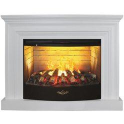 Широкий электрокамин Real-Flame Weston 33 WT с очагом 3D FireStar 33