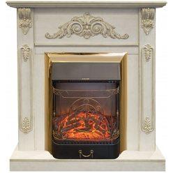 Электрокамин  Real-Flame Anita Corner угловой WT с очагом Majestic s Lux BR
