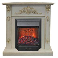 Электрокамин  Real-Flame Anita Corner угловой WT с очагом Majestic s Lux BL