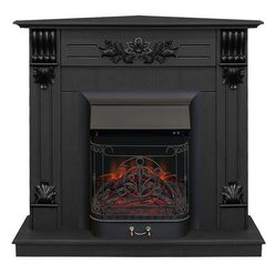 Электрический камин Real-Flame Ottawa Corner STD/EUG DN с очагом Majestic s Lux BL