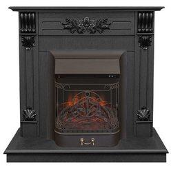 Электрический камин Real-Flame Ottawa STD/EUG DN с очагом Majestic s Lux BL