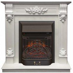 Электрический камин Real-Flame Ottawa Corner STD/EUG WT с очагом Majestic s Lux BL