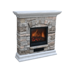 Камин с декоративным порталом (комплект) Electrolux EFP/S - 2018SBR светлый камень