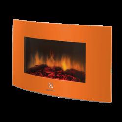 Современный электрокамин настенный EFP/W -1200URLS оранжевый