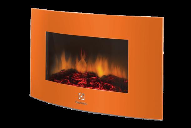 Электрокамин Electrolux EFP/W -1200URLS оранжевый