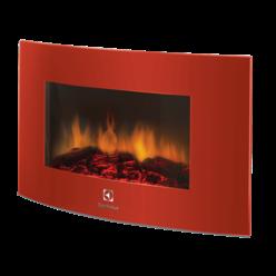 Современный электрокамин настенный EFP/W -1200URLS красный