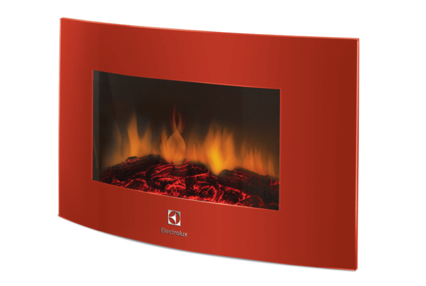 Электрокамин Electrolux EFP/W -1200URLS красный