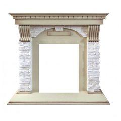 Портал для электрического камина DimplexDublin арочный сланец крем под классические очаги