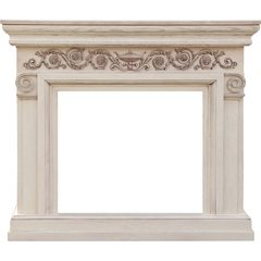 Портал Royal Flame Athena слоновая кость, патина под очаги Vision 23