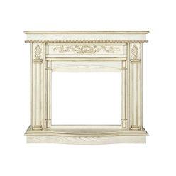 Угловой портал для электрокамина Royal Flame Cardinal белый дуб, патина золото