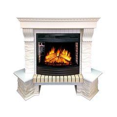 Портал Royal Flame Pierre Luxe угловой сланец белый под очаг Dioramic 25 LED FX