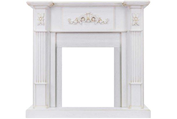 Портал Royal Flame Martin белый дуб, патина золото