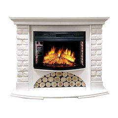 Электрокамин Royal Flame Village кирпич белый с очагом Dioramic 25 Led FX