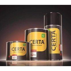 Краска термостойкая (банка 0,08 кг) Патина Серебро CERTA