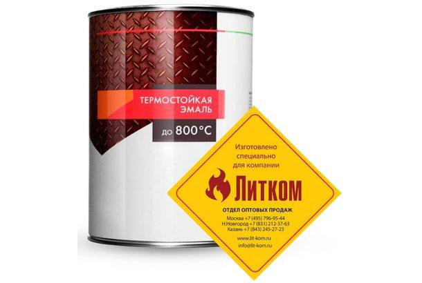Краска термостойкая (банка 0,8 кг) Черная ELCON