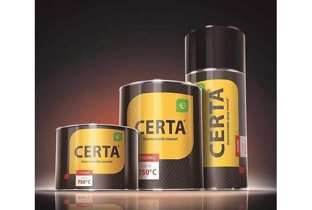 Краска термостойкая (банка 0,8 кг) Серебро CERTA
