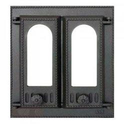408 SVT каминная дверца со стеклом(двустворчатая)