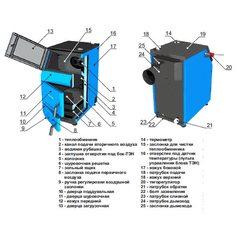 Твердотопливный котел ZOTA Тополь-М 60 кВт