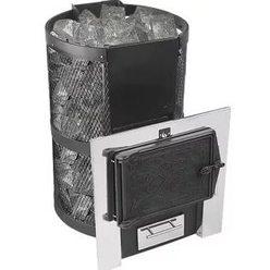 Банная печь КОНВЕКТИКА Кольчуга 14-18 (чугунная дверка без парогенератора)