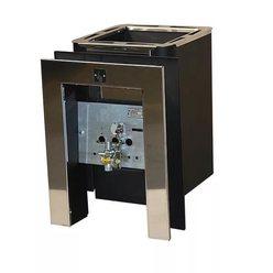 Банная печь КОНВЕКТИКА Колибри 9 У антрацит (с газовой горелкой +портал)