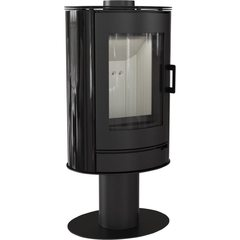 Печь-камин Koza/AB/S/N кафель черный