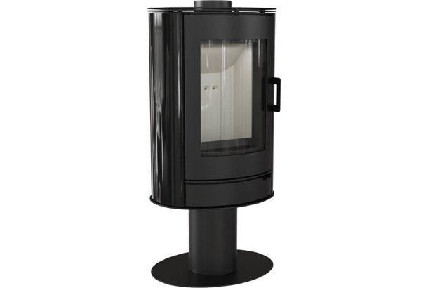 Печь-камин Koza/AB/S/N/O kafel czarny