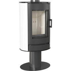 Металлическая печь Koza/AB/S/N/O kafel bialy
