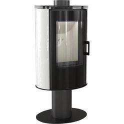 Металлическая печь Koza/AB/S/N/O/GLASS kafel bialy