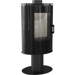 Металлическая печь Koza/AB/S/N/O/GLASS kafel czarny
