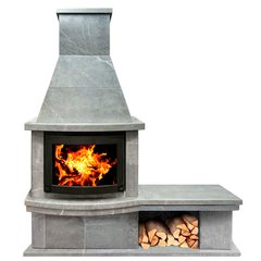Печь-камин Теплый камень FS7-1Б основание+банкетка