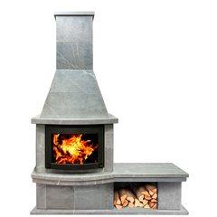 Печь-камин Теплый камень FS7Б банкетка+основание