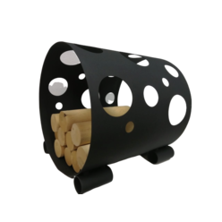 Дровница с лазерной резкой «Круги»  D210BK