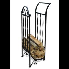 Кованый стеллаж для дров на колесиках KD5087BK