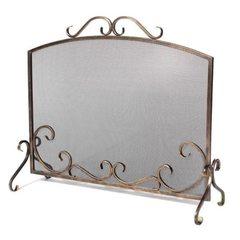 Экран кованый для камина S610ASK (цвет серебро)