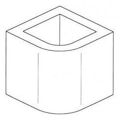 Элемент дымохода, неокрашенный, H=26 (Palazzetti)