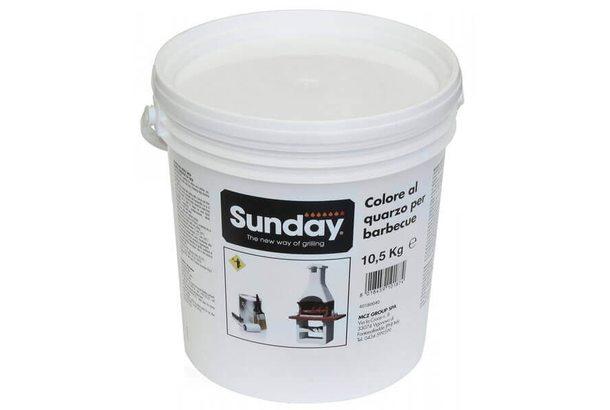 Краска белая для отделки барбекю, 10,5 кг (Sunday)