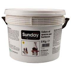 Краска белая для отделки барбекю, 5 кг (Sunday)